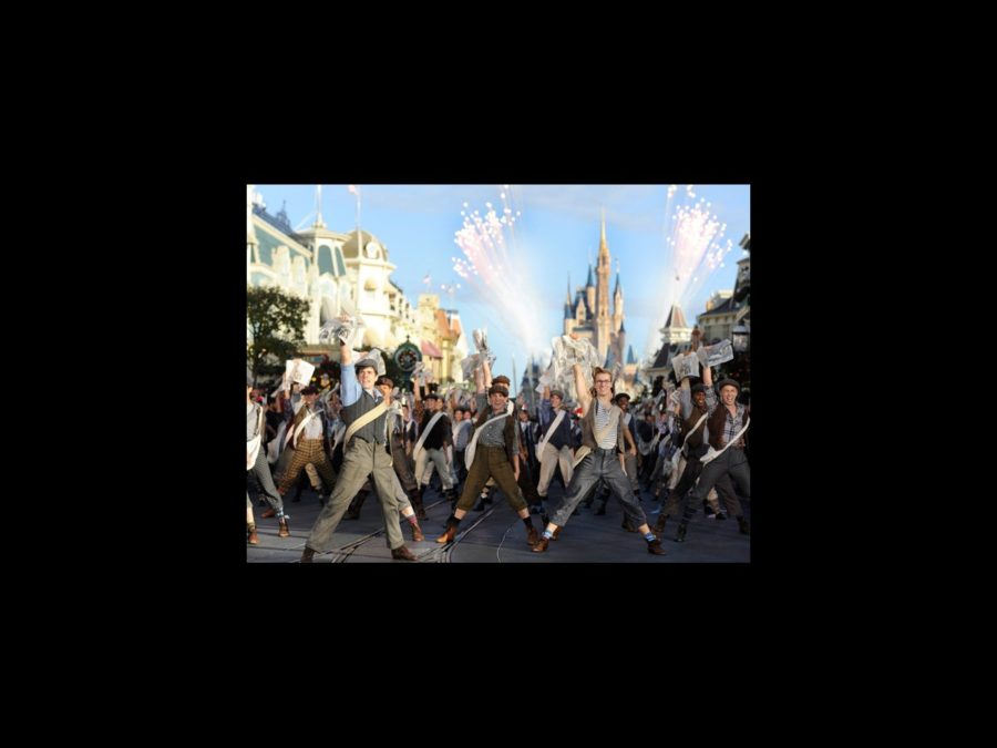 Newsies cast Christmas Parade - Corey Cott- Ryan Steele - 12/12