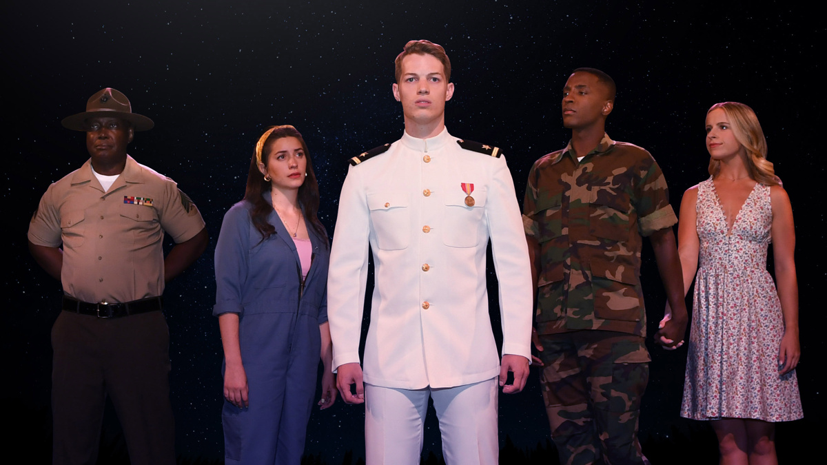 An Officer and a Gentleman - 8/21 - David Wayne Britton - Mia Massaro - Wes Williams - Devin Holloway - Emily Louise Franklin - Photo by Denise Truscello